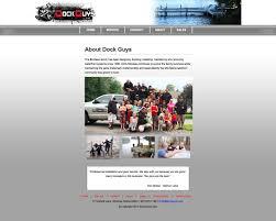 Maine Web Design Web Design Example A Page On Dockguys Com Crayon