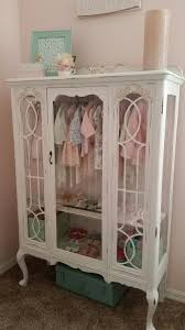 little girl room furniture. diy repurposed china hutch displaying little girls clothesgreat addition to a girl room furniture
