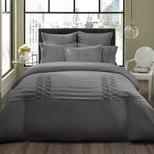 this city scene triple diamond grey duvet cover set is an instant fashion update for any