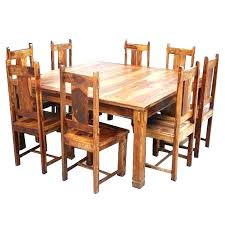 round wooden dining table sets oak kitchen table set rustic dining table set large rustic square
