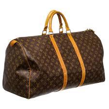 louis vuitton custom painted monogram canvas leather keepall 55 cm duffle bag