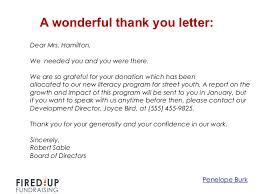 How To Write A Thank You Letter For A Donation How To Write A Killer Thank You Letter