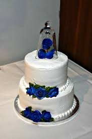 simple blue wedding cake. Brilliant Wedding Royal Blue Wedding Cake On Simple P