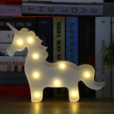 Wholesale Lumiparty Unicorn Led Table Lamp 3d White Unicorn Sign