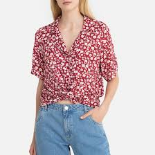 <b>Рубашка</b> с принтом с короткими рукавами рисунок цветочный ...