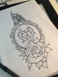 Diamond And Rose Design Tattoos тату татуировки и эскиз тату