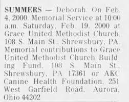 Obituary for Deborah SUMMERS - Newspapers.com