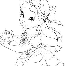 Coloring Pages Disney Princesses Baby The Little Mermaid Coloring