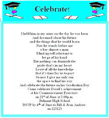 Free Graduation Invitations Templates How To Word Party A High