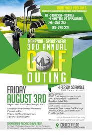 2018 Golf Outing Flyer Moneyball Sportswear