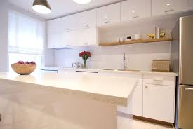 White Kitchen With White Granite Granite Countertop For White Cabinet Attractive Home Design