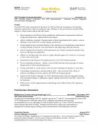 Resume Sap Basis Administration Cover Letter Best Inspiration For