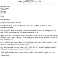 Cover Letter For A Job Not Advertised Resume Job Description