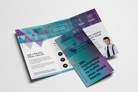 2 Folded Brochure Template Free Trifold Brochure Template Vol 2 In Psd Ai Vector