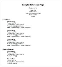 References Format For Resume References Resume Template References