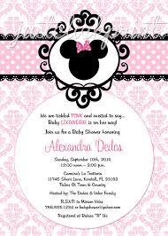 Minnie Mouse Pink Black Damask Baby Shower Birthday Invitation ...