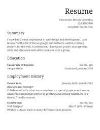 Simple Resume Format Sample Simple Job Resume Examples As Customer ...