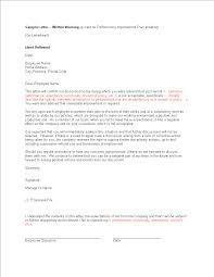 Free Employee Written Warning Letter Templates At