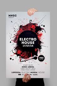 How To Create A Party Flyer House Party Flyers Design Electro House Party Flyer Design Pinterest
