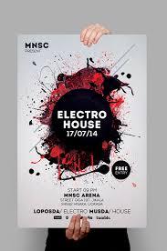 House Party Flyers Design Electro House Party Flyer Design Pinterest