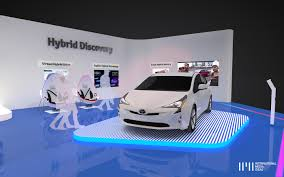 Toyota HYBRID Exhibition Stand on Pantone Canvas Gallery