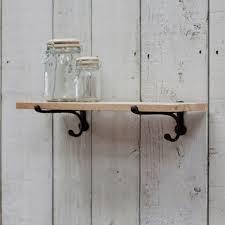 wrought iron bathroom shelf. Small Oak Shelf With Cast Iron Brackets Wrought Bathroom 0
