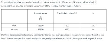 Interpreter Job Description Solved To Investigate Possible Gender Discrimination In A