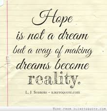 Inspirational Quotes About Hopes And Dreams Best Of Famous Hope And Dream Quotes By LJ Suenens Golfian