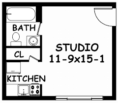 Small One Bedroom Apartment Floor Plans Small Studio Apartment Floor Plans Floor Plans From Small Studio