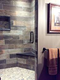 bathroom tile colors brown and gray bathroom with a warm rustic vibe beautiful tile shower with bathroom tile colors