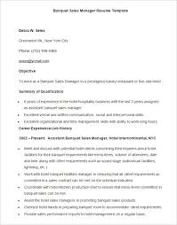 Resume Templates In Microsoft Word Extraordinary Sample Banquet Sales Manager Resume Template Download Template For