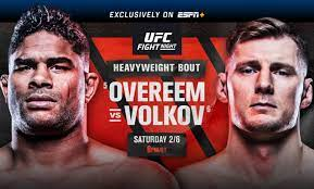Gastelum will resume with 11 bouts. Ufc Fight Night Overeem Vs Volkov February 6 Exclusively On Espn Espn Press Room U S