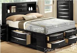 Full Size of Bedroom:attractive Laguna Hills Black Queen Storage Platform  Bed, ...