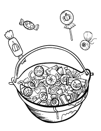 Small Picture Printable Halloween candy coloring page Free PDF download at http