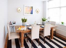 black and white striped rug. black and white striped rugs \u2013 meant to be versatile dining room featuring a rug