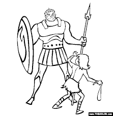 Small Picture David And Goliath Coloring Page Free David And G