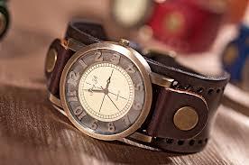 brown leather bracelet wrap watch jewelry wrist watch handmade brown leather bracelet wrap watch jewelry wrist watch handmade women watch men leather watch best gift for valentine s day !