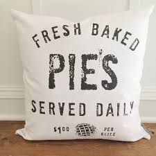 Fresh Baked Pies Pillow Cover Linen And Ivory