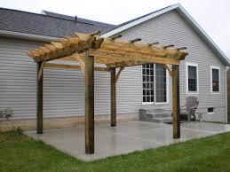 Build A Concrete Patio Tips To Building Your Own Beautiful Pergola Concrete Pad