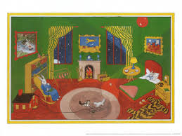 the position of this book has two general styles first there is the layout of the rabbit s room covering the whole spread of the two pages