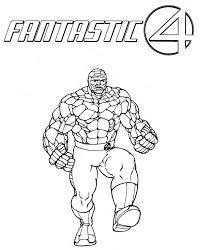 Kleurplaten Fantastic Four Superhelden Kleurplaten Animaatjesnl