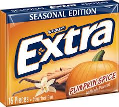 (Wrigley). 8. Pumpkin spice
