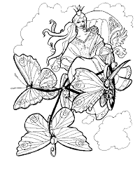 Coloring Pages Free Fairy With Mirror Coloring Pages For Adult