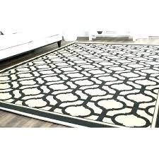 black indoor outdoor rug or and cream rugs tangier x white striped 3x5