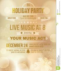 soft gold holiday party invitation flyer stock vector image soft gold holiday party invitation flyer
