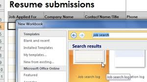 Create A Log To Keep Track Of Your Job Search