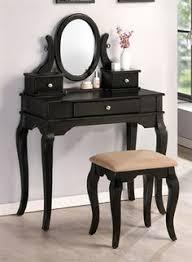 austin black makeup vanity set