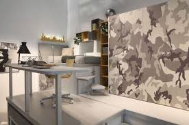Military Camouflage Theme Bedroom Study Space: Military Camouflage Theme  Bedroom Study Space
