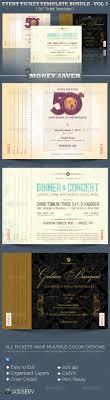 beste ideer om event ticket template p aring  event ticket template bundle volume 3 by michael taylor via behance