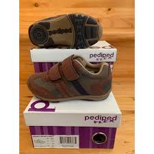 Pediped Flex - Gehrig Brown Navy Sneaker   Shopee Philippines